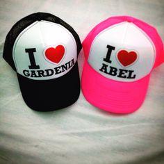 Gorras Personalizadas I ❤ Gardenia y I ❤ Abel. eafcb84b26b