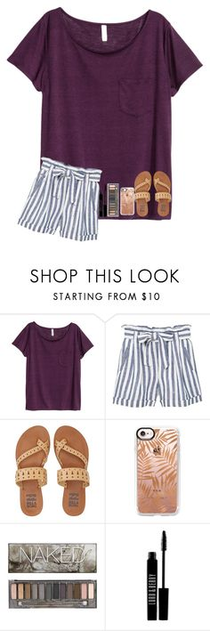 """""""not sure about this:/"""" by nc-preppy-living ❤ liked on Polyvore featuring H&M, MANGO, Billabong, Casetify, Urban Decay and Lord & Berry"""