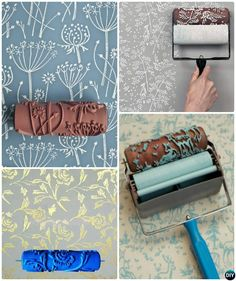 DIY Patterned Roller Wall Painting Instruction -DIY Wall Painting diy painting techniques - Diy Techniques and Supplies