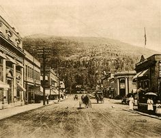 Revelstoke is located in a temperate rain forest and the tourism potential of the town was recognized very early on Revelstoke Bc, Alpine Adventure, Whistler, Home And Away, Old Pictures, British Columbia, Vancouver, Tourism, Scenery