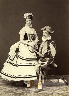Countess Johanna Erdödy & friends in fancy dress, 1869