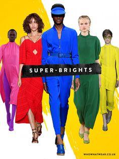 spring summer 2017 fashion trends: super-brights at Balenciaga, Roland Mouret, Max Mara, Emilia Wickstead, 3.1 Phillip Lim