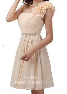 coral bridesmaid dress, junior bridesmaid dress, short dress bridesmaid, formal short dress, RE172. $89.00, via Etsy.
