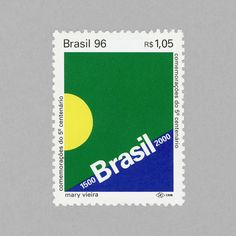 500th Anniv. of the Discovery of Brazil, 1996. Design: Mary Vieira. #mnh #mintneverhinged #mnh_bra #postagestamps #brazil #brasil
