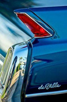 1962 Cadillac Deville Taillight by Jill Reger – En Güncel Araba Resimleri Cadillac, Retro Cars, Vintage Cars, 1960s Cars, Maserati, Bugatti, Hot Rods, American Classic Cars, Us Cars