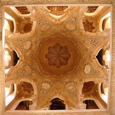 Interior of the Koubba El-Badiyn, Alhambra. Granada Spain. Moorish Architecture. (1333–1353)