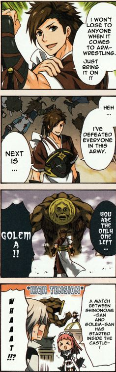 Shinonome vs Golem
