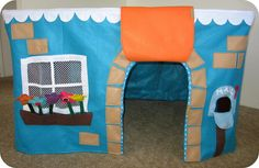 homemade by jill: felt playhouse