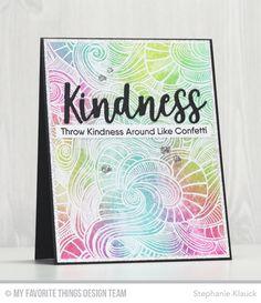 Kind Words Stamp Set, Wavy Coloring Book Background, Kind & Kindness Die-namics - Stephanie Klauck  #mftstamps