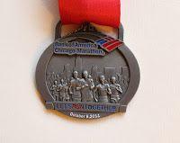 Bank of America Chicago marathon medal 2011