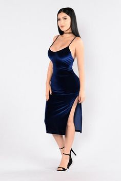 Guilty As Charged Dress - Blue