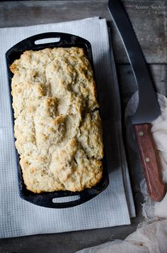Summer Ale Beer Bread - Amazing and buttery, the ends are the best part because they get all crisped up in the butter. I love beer bread because it's like biscuits in loaf form, and this one was fantastic. Perfect with chili or soup.