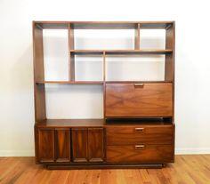 Vintage MCM Desk / Room Divider by take2vintage on Etsy