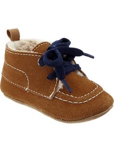 Old Navy Sherpa Lined Sueded Moccasins For Baby