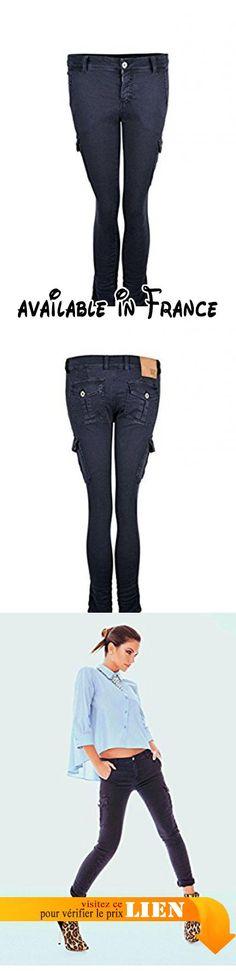 B0743KBP5W : Denny Rose - Pantalon - Skinny - Femme bleu bleu Large.