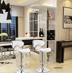 Counter Height Swivel Bar Stools White Set Home Barstools Pub Kitchen Chair Foot #CounterHeightSwivel