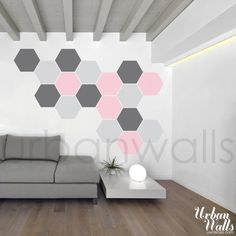 Vinyl Wall Sticker Decal Art Honeycomb Pattern by urbanwalls