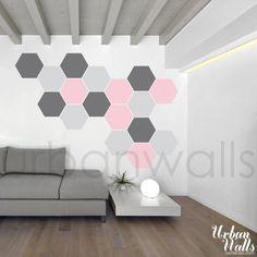 Vinyl Wall Sticker Decal Art - Honeycomb Pattern