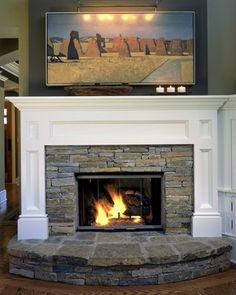 traditional home fireplace with raised hearth design pictures remodel decor and ideas