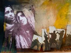 """""""Schwarze Gewalt"""",  Collage,  Monika  Stoffel"""