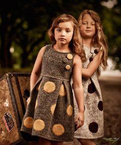 Jan Kraft for Jumina 2 natural hues Big Dots Little Girl Fashion, Kids Fashion, Little Girl Dresses, Girls Dresses, Moda Kids, Stylish Kids, Kid Styles, Baby Dress, Dot Dress