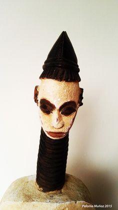 Ekwotame, cabeza. Ekwotame head