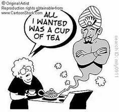 All I wanted was a cup of tea:  Cartoonstock