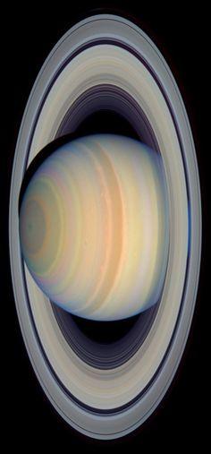 Saturn 's Rings in Visible Light, image from NASA Hubble.