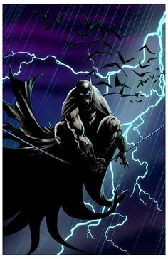"""Batman  All prints are 11""""x17"""" unless otherwise specified.  Use the code """"buy2"""" and get any 2 prints for $30!  *All art is owned and copyrighted by Damon Bowie and Intense Yellow Productions. Any unauthorized usage of images without consent is prohibited. *"""