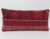 red decorative pillow embroidery pillow sham red kilim pillow couch pillow cover red lumbar pillow cover red kilim pillow set red rug 25649