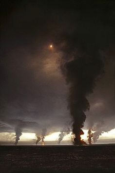 Tornados                                                                                                                                   No, oil wells on fire in Kuwait.