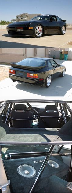 Porsche 944 turbo track car with 924 CGT wing, Fikse wheels and a pair of old school JL subs Porsche Gts, Good Looking Cars, Beetle Convertible, Performance Cars, Hot Cars, Motor Car, Dream Cars, Volkswagen, Classic Cars