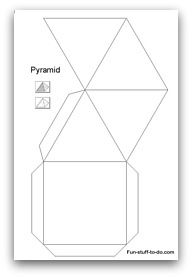 Printable Pyramid Template  Clay Textures And Techniques
