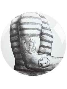 Rare Fornasetti JULIA Tattoo Face On Sailor Arm PLATE. Printed black and white porcelain plate from Fornasetti featuring a Back Stamp Tattoo with Julia's face. they may be original, while others can be reproductions. | eBay!
