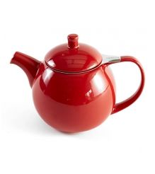 Curve Red Teapot with Infuser 24 oz.