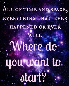 Doctor Who Digital Print - All of Time and Space - 11th Doctor Quote. $5.99, via Etsy.