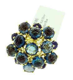 Over 50% off this GORGEOUS Ippolita 18k yellow gold Blue sapphire & London blue topaz Lollipop ring! 😍  https://www.jewelrybydavid.com/collections/ippolita/products/copy-of-ippolita-18k-yellow-gold-rock-candy-lollipop-ring-in-brown-shell-doublet-size-7 . . . . .. . . . . #earrings #artdeco #vintage #diamonds #platinum #ring #jewelry #gold #shopping  #class #style #fashion #gems #unique #diamondsareforever #giftsforher #ippolita #topaz #engagement #family #marriage #london #christmas…