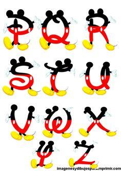 letras para imprimir de mickey mouse
