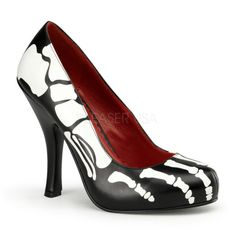 830d1bfd92e Awesome Skeleton Print Heels! More   Orange Clubwear! Halloween Party