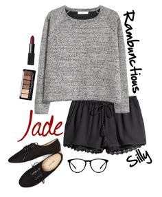 """""""Jade"""" by hellokitty522 ❤ liked on Polyvore featuring H&M, MANGO, NARS Cosmetics, Wet Seal and bestfriend"""