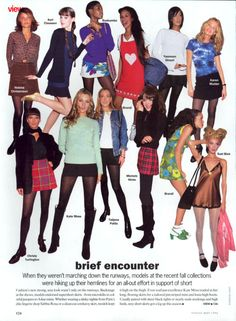 Vogue 1994 kate moss plaid christy turlington magazines fashion helena christensen plaid skirt runway may 1994 Outfits Casual, Mode Outfits, Fashion Guys, Fashion Outfits, 90s Teen Fashion, 90s Fashion Grunge, 90s Grunge, Fashion Hacks, Fashion Essentials