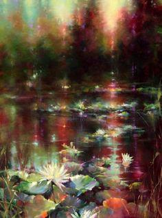 Невероятные краски, цвет и свет. Может быть это закат или рассвет. А может быть это мечта. В любом случае – это пейзажи художника Donna Young.