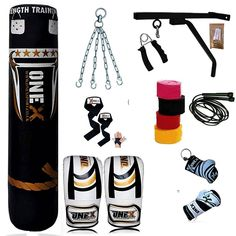 Onex Heavy Filled 9 Pcs 4FT Boxing Punch Bag Set Gloves Bracket Chains MMA Pad women//Ladies