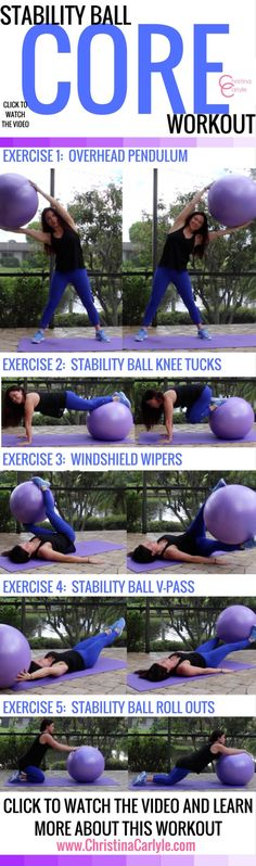 Core Stability Ball Workout – ab exercise ball exercises – Christina Carlyle Source by Exercise Fitness, Exercise Ball, Health Fitness, Exercise Equipment, Excercise, Stability Ball Exercises, Core Stability, Ab Exercises, Chest Exercises