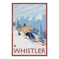 vintage ski poster from Whistler. BEEN THERE!!!!!!
