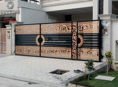 Modern Main Gate Designs, Iron Main Gate Design, Gate Wall Design, Home Gate Design, Grill Gate Design, House Main Gates Design, Main Entrance Door Design, House Front Design, House Front Gate