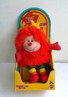 Vintage Rainbow Brite ROMEO Red SPRITE doll MIB Hallmark Mattel 1983 via Etsy
