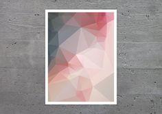 ROSE POLY Kunstdruck Geometrie pink rosa modern Wandbild von banum
