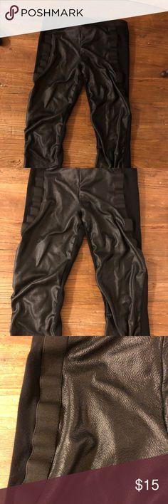 BCBGMAXAZRIA leather leggings SZ small Pho leather leggings SZ small   Worn BCBGMaxAzria Pants Leggings