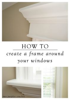 How to Install Your Own Window Trim For a custom look, learn how to trim out a window with this step-by-step home tutorial. It's a great project that's easy to do over a weekend. Plus, it makes a huge difference in the look and feel of your rooms. Home Improvement Projects, Home Projects, Home Renovation, Home Remodeling, Interior Window Trim, Moldings And Trim, Crown Moldings, Window Molding Trim, Molding Around Windows
